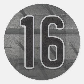 16th Boy's Birthday Sticker