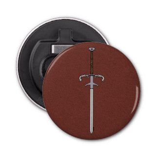 16th Century Bearing Sword Button Bottle Opener