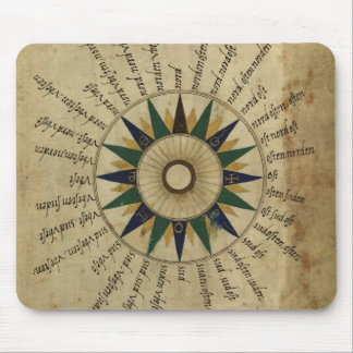 16th Century Compass Rose Mouse Pad