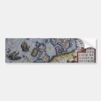 16th Century Map of Scandinavia Bumper Sticker