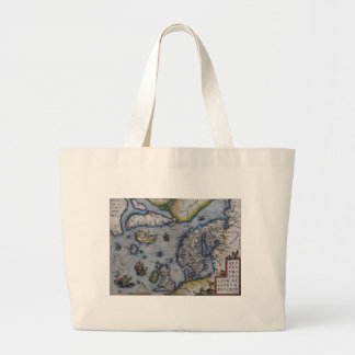 16th Century Map of Scandinavia Jumbo Tote Bag