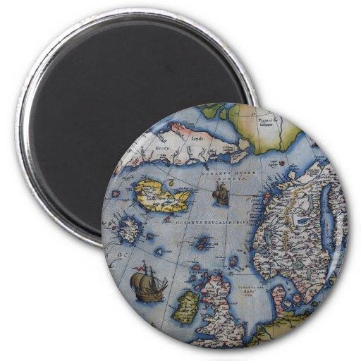 16th Century Map of Scandinavia Fridge Magnet