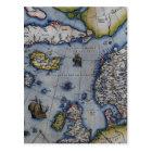 16th Century Map of Scandinavia Postcard