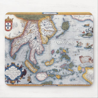 16th Century Map of South East Asia and Indonesia Mousepads