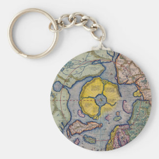 16th Century Mercator North Pole Map Keychain
