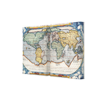 16th Century World Map Gallery Wrap Canvas