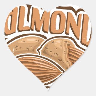 16th February - Almond Day - Appreciation Day Heart Sticker