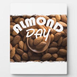 16th February - Almond Day - Appreciation Day Plaque