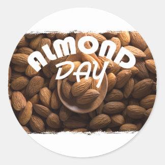 16th February - Almond Day - Appreciation Day Round Sticker