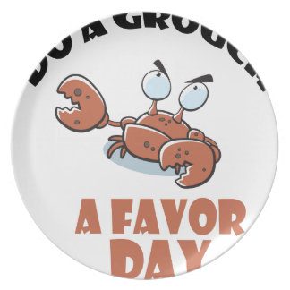 16th February - Do a Grouch a Favor Day Dinner Plate