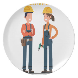 16th February Introduce a Girl To Engineering Day Dinner Plate
