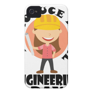 16th February Introduce A Girl To Engineering Day iPhone 4 Case-Mate Cases