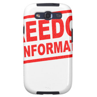 16th March - Freedom Of Information Day Samsung Galaxy SIII Cases