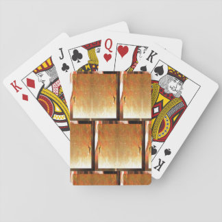 16th Pattern; Iridescent Silver Stitches Playing Cards