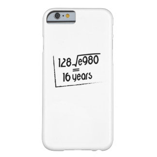 16th Wedding Anniversary or 16th Birthday Gift Barely There iPhone 6 Case