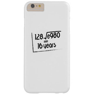 16th Wedding Anniversary or 16th Birthday Gift Barely There iPhone 6 Plus Case