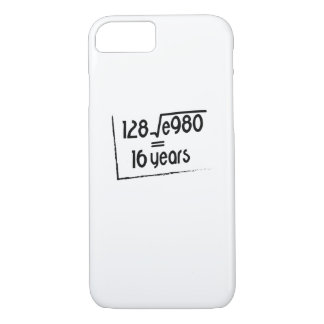 16th Wedding Anniversary or 16th Birthday Gift iPhone 8/7 Case