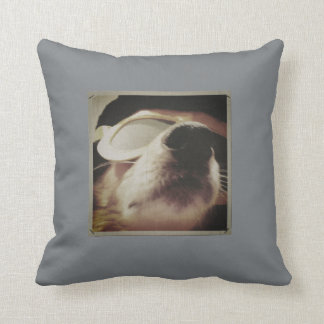 16x16 Throw Pillow with Murphy's Elvis Lip