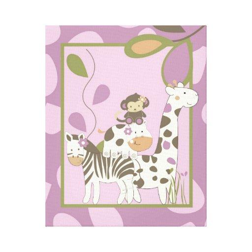 16x20 Canvas Art Nursery Print Jacana Girl Jungle Gallery Wrap Canvas