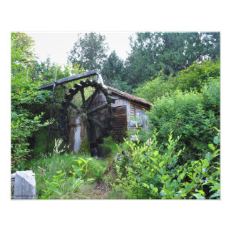 16X20 Dalby Waterwheel in Union Washington-Summer Photo Print