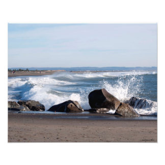 16X20 Pacific Ocean at Ocean Shores, WA Photo Print