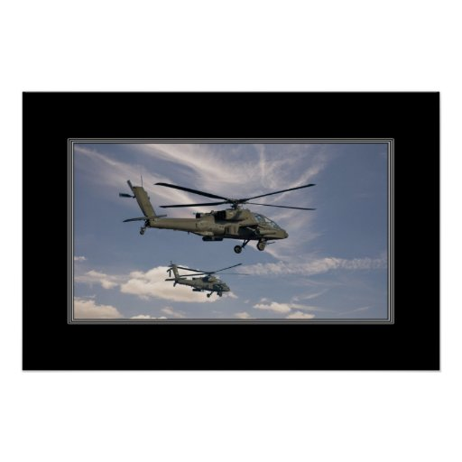 16x24 Print of Military Helicopters