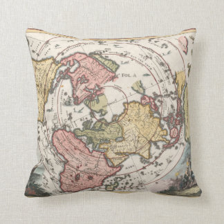 1700 World Map Pillow