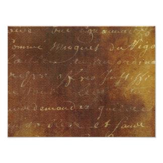 1700s Vintage French Grunge Script Parchment Paper Photo Art