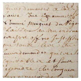 1700s Vintage French Script Grunge Parchment Paper Tile