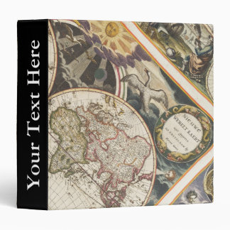 1702 A new map of the world 3 Ring Binders