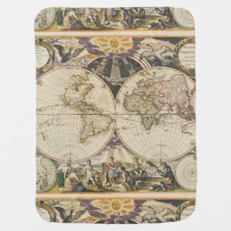 1702 A new map of the world Baby Blanket