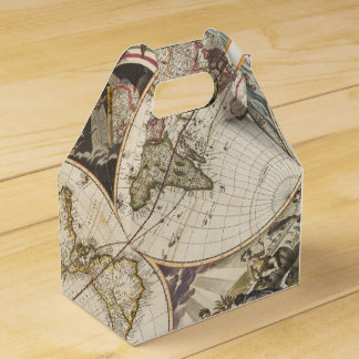 1702 A new map of the world Favor Boxes