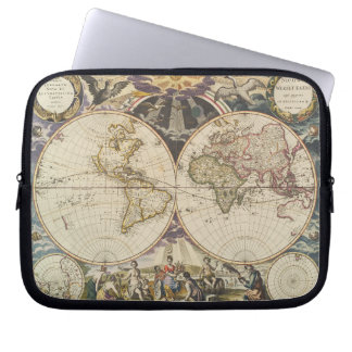 1702 A new map of the world Laptop Sleeve