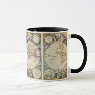 1702 A new map of the world Mug