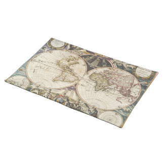 1702 A new map of the world Place Mats