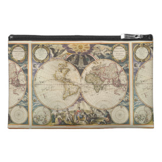 1702 A new map of the world Travel Accessories Bag