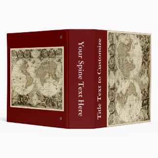 1708 World Map by Jean Baptiste Nolin Vinyl Binders