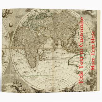 1708 World Map by Jean Baptiste Nolin Binder