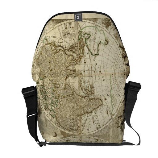 1708 World Map by Jean Baptiste Nolin Messenger Bags