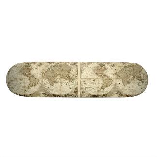 1708 World Map by Jean Baptiste Nolin Skate Board Deck