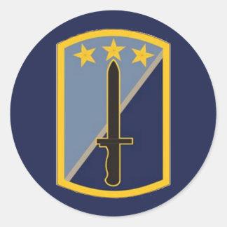170th Infantry Brigade Round Round Sticker