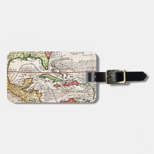 1732 Herman Moll Map of the West Indies and Caribb Luggage Tag