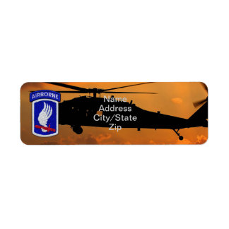 173rd ABN Airborne Brigade sky soldiers patch Return Address Label
