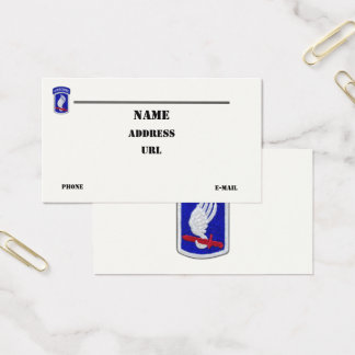 173rd ABN airborne brigade vets veterans patch Business Card