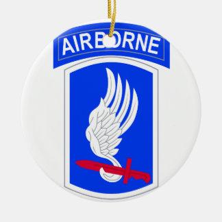 173rd Airborne Brigade Combat Ceramic Ornament