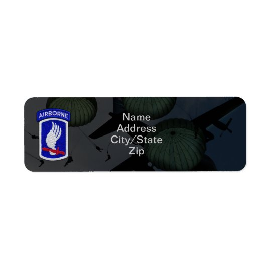 173rd airborne brigade sky soldiers patch return address label