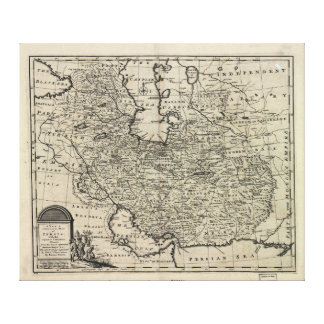 1747 New and Accurate Map of Persia Emanuel Bowen Gallery Wrap Canvas