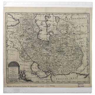 1747 New and Accurate Map of Persia Emanuel Bowen Cloth Napkins