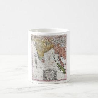 1748 Homann Heirs Map of India and Southeast Asia Coffee Mug