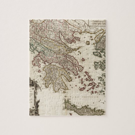 1752 Map of Ancient Greece Jigsaw Puzzle